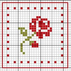 cross stitch chart....use for crocheted afghan pattern