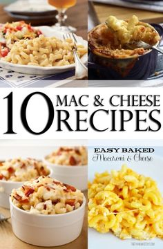 10 Delicious Mac and Cheese Recipes. Not a healthy one. But everyone gets to splurge once and awhile for their favorite childhood food ;)