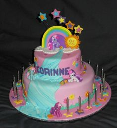Corrine 21 My Little Pony By Kellis Cakes Via Flickr Cake
