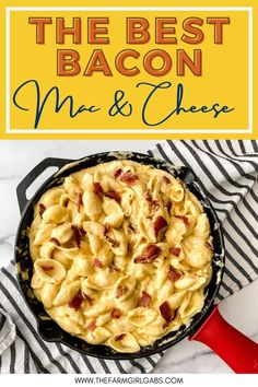 Ditch the box of macaroni and cheese and make a cheesy side on the stovetop with this stovetop Bacon Mac and Cheese recipe. It's simple, flavorful, and perfect to serve with some of your favorite entrees, such as chicken and pork! This stovetop macaroni and cheese recipe is a perfect weeknight meal idea. Your family will love this creamy mac and cheese recipe. This is the mac & cheese is the ultimate comfort food recipe. Macaroni And Cheese Bacon, Homemade Macaroni Cheese, Easy Mac And Cheese, Mac Cheese Recipes, Pasta Recipes, Stove Top Recipes, Best Bacon, Cheese Tasting, How To Cook Pasta