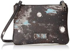 Women's Cross-Body Handbags - Marc by Marc Jacobs Ligero Novelty Stargazer Double Percy Cross Body BlackMulti One Size * More info could be found at the image url.