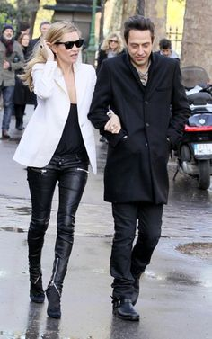 2010/Kate Moss and Jamie Hince out and about in Paris April 3