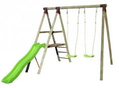 Station de jeux bois Trigano 2,30 m. + toboggan. 3 enfants. 269€