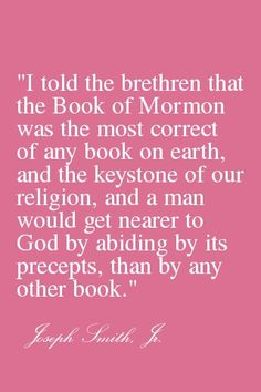 The Book Of Mormon--The Most Correct Book