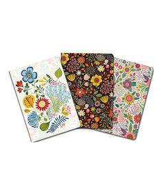 Love this Botanical Bloom Notebook Set on #zulily! #zulilyfinds