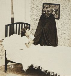 vintage everyday: Creepy 1920s Photos of The Boogeyman