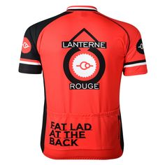 Lanterne Rouge Short Sleeve Cycling Jersey by Fat Lad At The Back.  J20sports are the 998fcaf6f