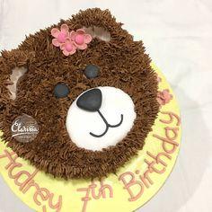 Teddy bear cake buttercream use cookie for muzzle on smash cake? Build A Bear Birthday, Teddy Bear Birthday Cake, Birthday Cakes Girls Kids, Teddy Bear Cakes, 1st Birthday Cakes, Girl Birthday, Picnic Birthday, Teddy Bears, Animal Cakes