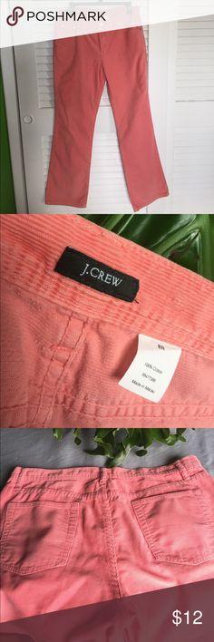 J Crew corduroy pants J Crew salmon colored corduroy pants. Size 8 regular. J. Crew Pants