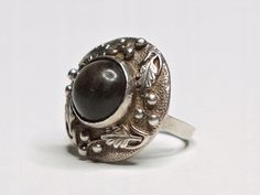 Tribal Fusion, Old Jewelry, Signet Ring, Band Rings, Gemstone Rings, Jewelry Design, Sterling Silver, Poland, Vintage