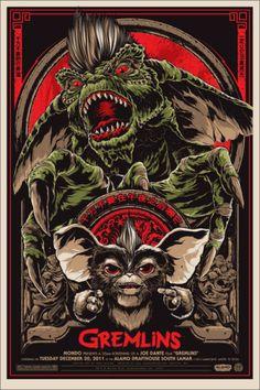 Gremlins (1984), Joe Dante. Poster Alternativo de Ken Taylor