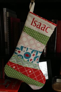 We've made do without our own stockings for the five Christmases that we've been married. Christmas Decorations Sewing, Christmas Crafts, Holiday Decor, Christmas Ideas, Quilting Projects, Sewing Projects, Stocking Pattern, Quilt As You Go, Baby Sewing