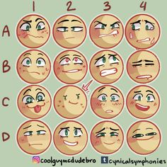 Expression Memes and Art Tutorials Drawing Reference Poses, Drawing Poses, Drawing Tips, Facial Expressions Drawing, Drawing Meme, Art Prompts, Drawing Challenge, Emoji Challenge, Art Poses