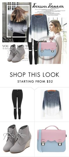 """""""Shein cont."""" by beenabloss ❤ liked on Polyvore featuring Nuevo, H&M, Grafico, Topshop, WithChic, La Cartella, women's clothing, women's fashion, women and female"""