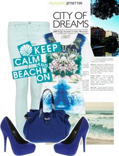 keep calm and beach on 3, created by nadadiaa-stylista0fashionista on Polyvore