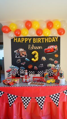 Hot Wheels Birthday Disney Cars Party Centerpiece
