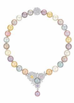 LES PERLES DE CHANEL COLLECTION: Printemps de Camélia necklace with pearls, diamonds and sapphires