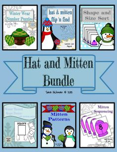 Hat and Mitten Math Hands On Learning Bundle: Hands On Math Bundle. Great for Math Centers, common core aligned.