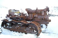 Old rusted out Cat Dozer at a Northern Alaska Radar Site