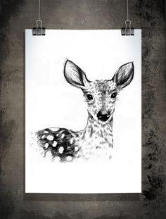 Affisch - Deer