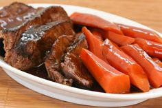 Soy-Braised Pot Roast with Carrots Recipe from Kalyn's Kitchen #SouthBeachDietRecipes #LowGlycemicRecipes