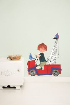 Shop Wall Stickers and Wall Decals at KEK Amsterdam. Illustrated by Fiep Westendorp are fun and vintage. The Wall Stickers and Decals are easy to apply. Tow Truck, Trucks, Wall Stickers, Wall Decals, Wall Art, Kids Wallpaper, Kids Decor, Home Decor, Home Interior Design