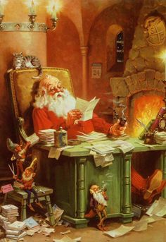 Santa & elves; George Hinke