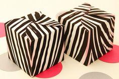 Zebra Chic Favor Box - DIY Printable PDF via Piggy Bank Parties