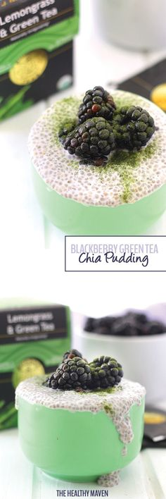 Need a caffeine boost and some extra antioxidants in your diet? Look no further than this Blackberry Green Tea Chia Pudding. It's made with just 5 ingredients but each is packed with its own nutritional benefit to keep you on a healthy path.