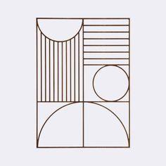Ferm Living_ Ozdoba ścienna Bauhaus - różne kolory- skandynawskie.pl