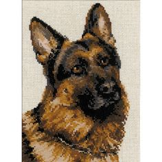 """German Shepherd Counted Cross Stitch Kit-9.5""""X11.75"""" 10 Count - Overstock™ Shopping - Big Discounts on Cross Stitch Kits"""