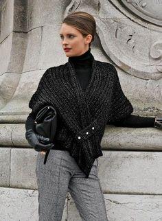 Bergère de France : lots of patterns (in french) Tunisian Crochet, Knit Or Crochet, Crochet Shawl, Free Crochet, Knitted Shawls, Crochet Scarves, Crochet Clothes, Knitted Cape, Knitting Patterns Free