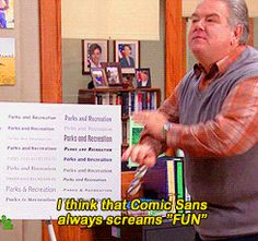 Parks and Recreation, Season 4, Episode 8 ... / comic sans