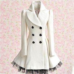 doble capa de lana dobladillo malla pechos de las mujeres - USD $ 37.79