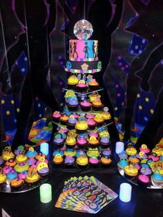 70 disco theme cake                                                                                                                                                      More