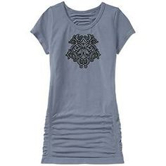 OC Balance Tee - The stretchy organic cotton seamless tee that has shirring at the sides for a forgiving fit.