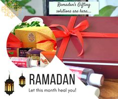 Ramadan: The holy month is starting Choose the stylish but yet to be traditional Gifting solution. Eid Gift, Ramadan Gifts, Eid Al Fitr, Rose Water, Hamper, Calming, Giveaway, Soap, Gift Wrapping