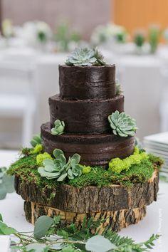Double Chocolate Wedding Cake