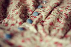 Floral dress with blue buttons