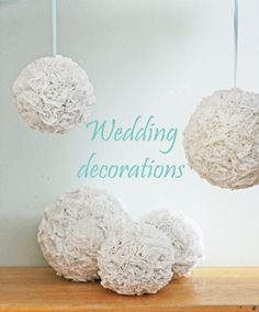 From recycled men's T shirts. Genius wedding decor for the crafty. Wedding Events, Our Wedding, Dream Wedding, Weddings, Wedding Stuff, Wedding Photos, Do It Yourself Wedding, Flower Ball, Diy Wedding Decorations