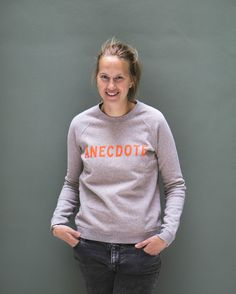 Jetteke, our founder and head of Anecdote is already wearing the limited edition Kingsday sweater!