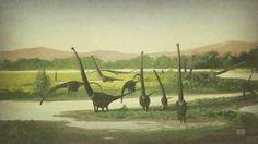 Mamenchisaurus by John Conway