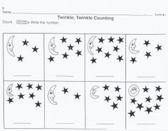 Outer Space Worksheets For Kids Counting Worksheets Counting Worksheets For Kindergarten, Counting For Kids, Kindergarten Math Worksheets, Worksheets For Kids, Counting Stars, Preschool Learning, Preschool Activities, Free Printable Worksheets, Alphabet Worksheets
