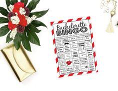 Red Hot Bachelorette Bingo, Bachelorette Bingo Cards, Printable Bingo Cards, Bachelorette Party Game, Bachlorette Challenge, Hot Bingo, PDF