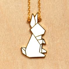 *Origami Rabbit Necklace - MISIA TR