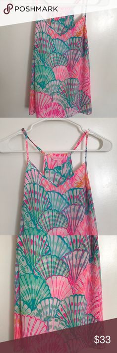 Lilly Pulitzer Dusk Top Oh Shello XS EUC, worn once Lilly Pulitzer Tops Tank Tops
