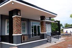 Simple Bungalow House Designs, Brick House Designs, House Roof Design, Small House Exteriors, Modern House Facades, Village House Design, Latest House Designs, Bungalow House Plans, Small House Design