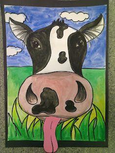 Close-up Cows!  Original Source;  onceuponanartroom.com  cute for second grade.