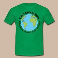 Start Geocaching - Miesten t-paita