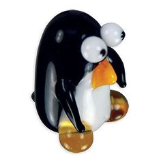 "Peyton is an adorable looking Penguin miniature glass figurine. Each 1"" tall penguin is a limited edition ""torch sculpture"" from Looking Glass and comes in its own secure collectible case. Looking gla"